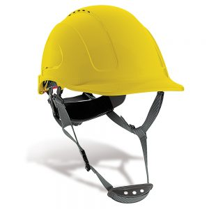 Casco Protección Mountain en Amarillo – Azul - Blanco