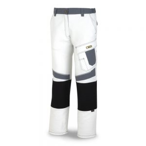 Pantalón Tergal Canvas Blanco-Gris T 42-44