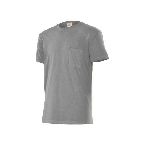 camiseta algodón gris T S-M-XL-XXL Velilla