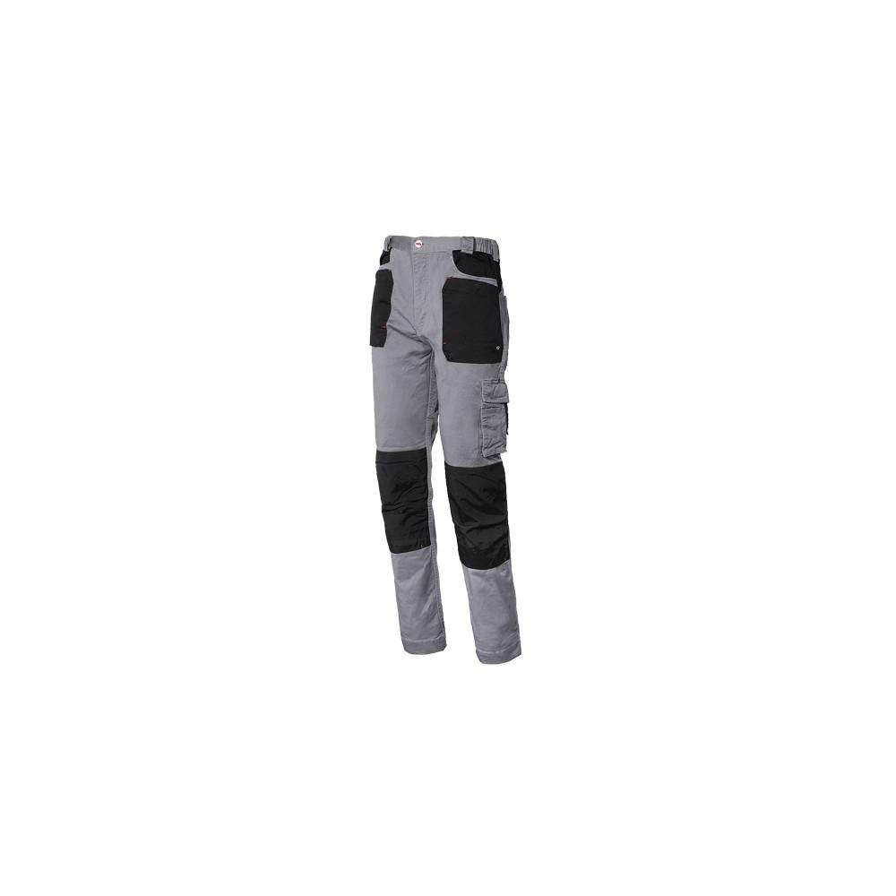 49772777e8d Pantalón de trabajo elástico Stretch Gris-Negro ISSA- Ferretería On Line